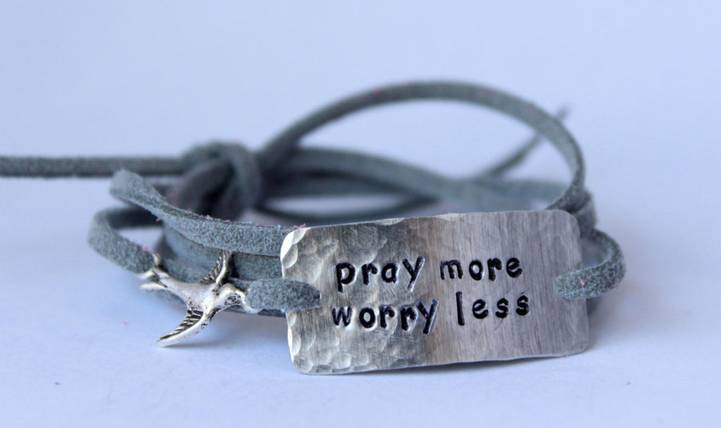 Pray More Worry Less, Wrap Bracelet