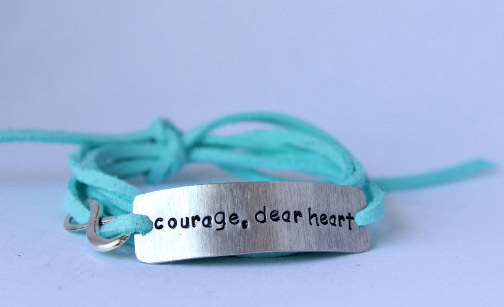 Courage Dear Heart, Wrap Bracelet