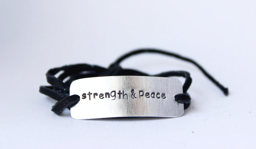 Strength & Peace Wrap Bracelet