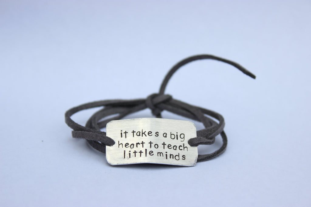 It Takes A Big Heart To Teach Little Minds, Wrap Bracelet