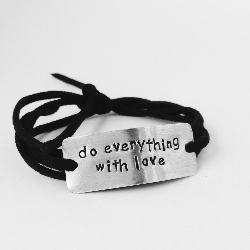 Do Everything With Love Wrap Bracelet