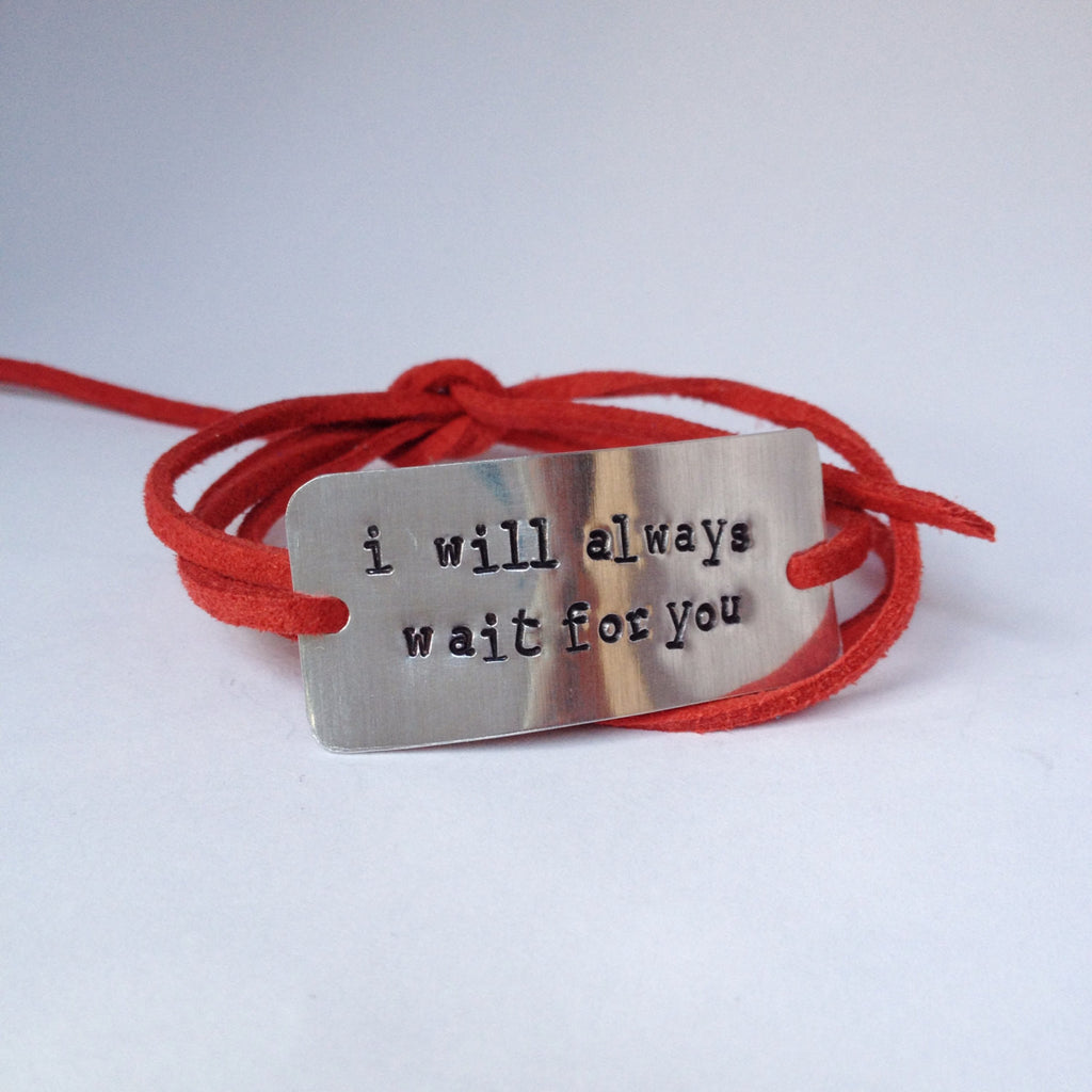 I Will Always Wait For You Wrap Bracelet