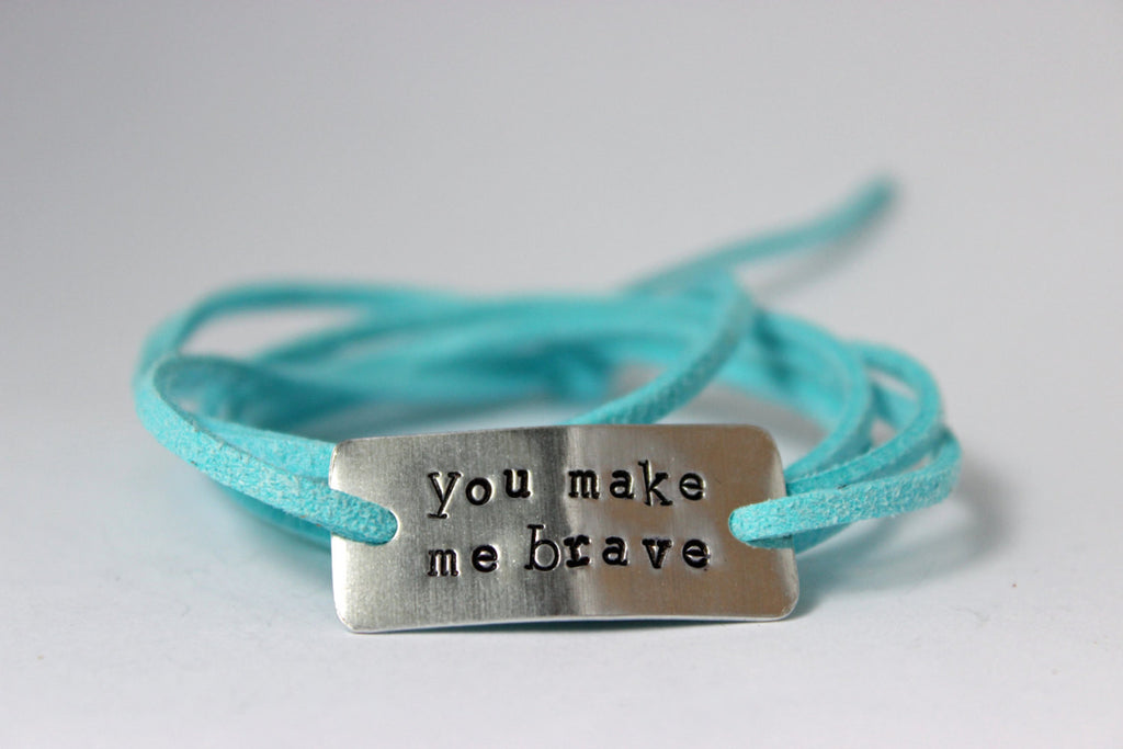 You Make Me Brave, Wrap Bracelet