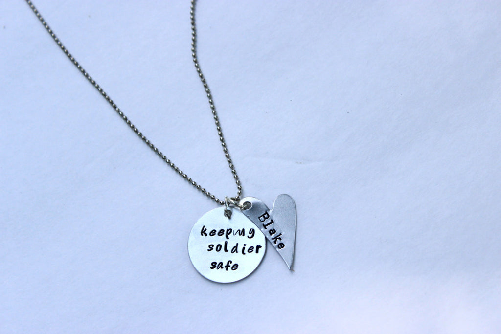 Army Wife Necklace, Military Jewelry