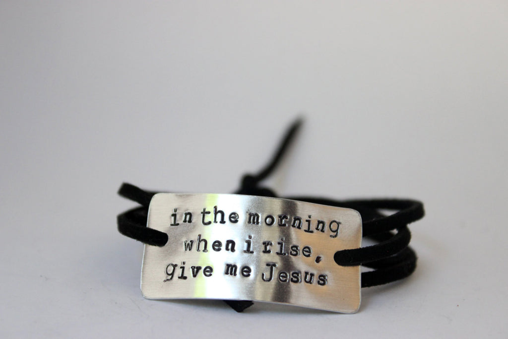 In The Morning When I Rise Give Me Jesus Wrap Bracelet