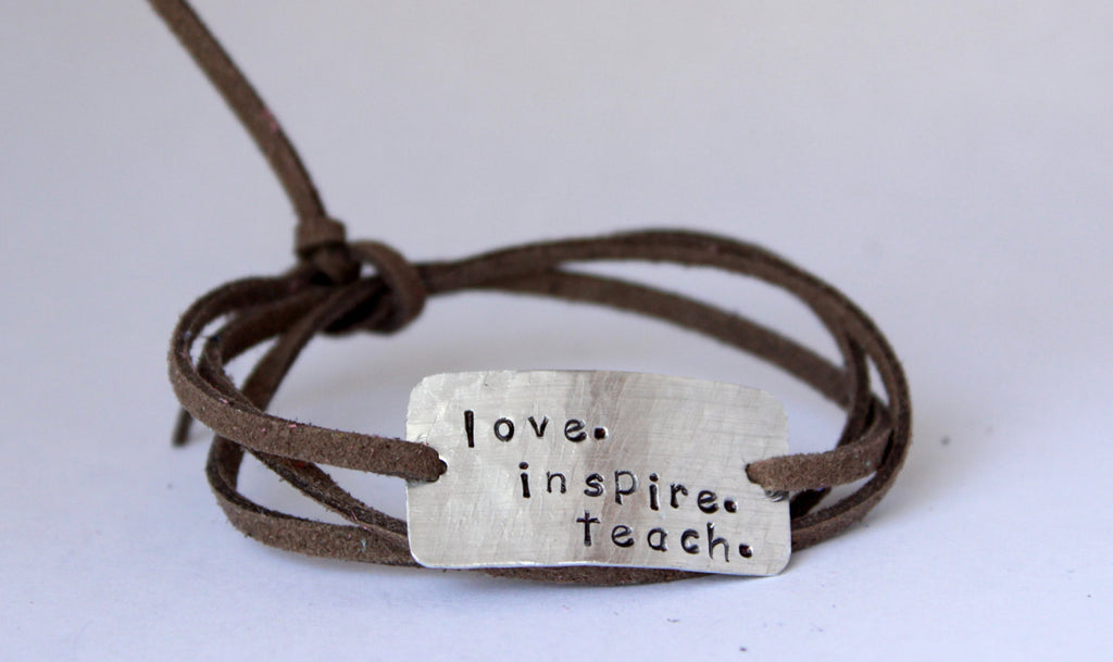 Love. Inspire. Teach. Wrap Bracelet