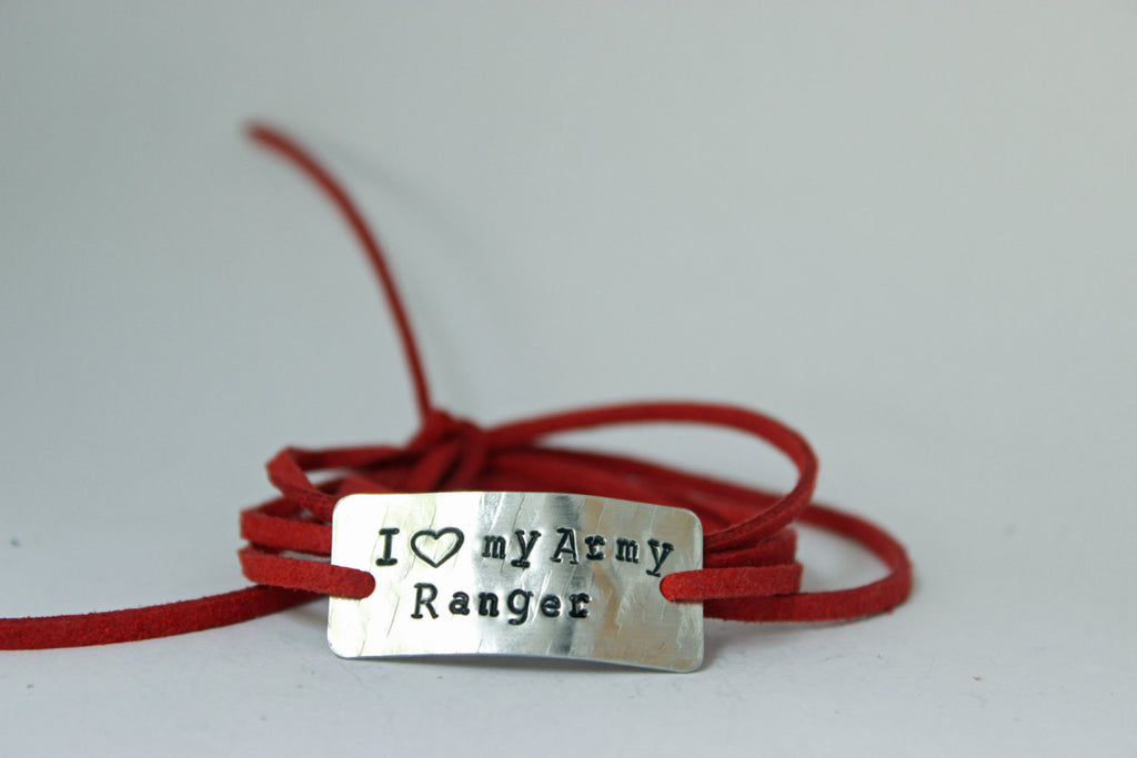 I Love My Army Ranger Wrap Bracelet