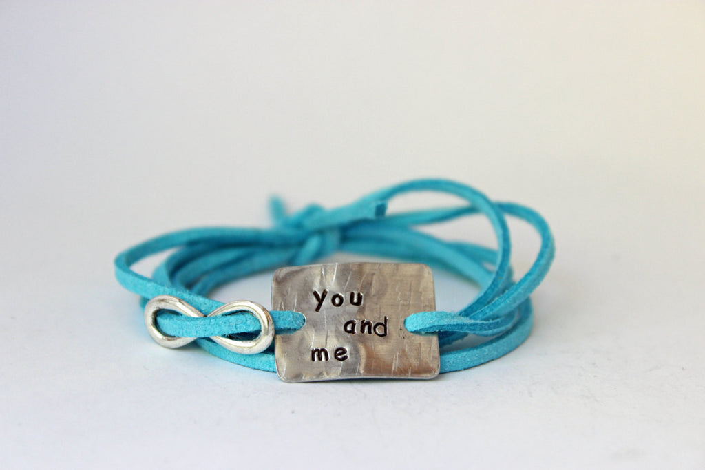 You and Me Wrap Bracelet with Charm