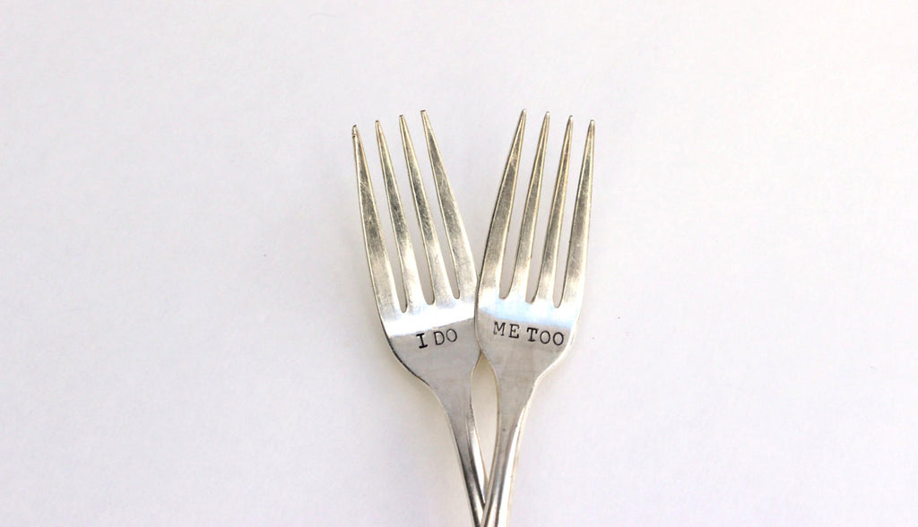 I Do, Me Too Wedding Forks