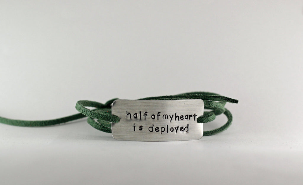 Half My Heart Is Deployed Wrap Bracelet