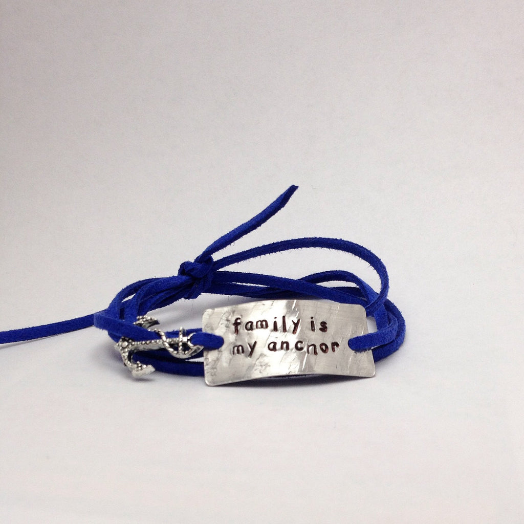 Family Is My Anchor Wrap Bracelet