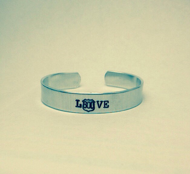 "Police Wife ""Love"" Bangle Bracelet"