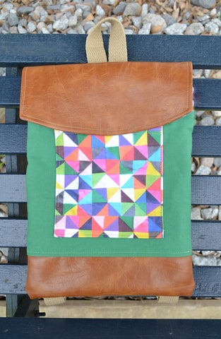 Green Quilted Watercolor Mini Pack