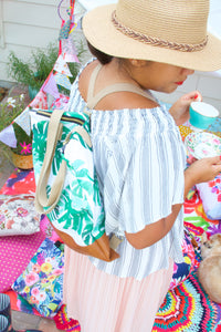 Market Tote - Palm Perfect