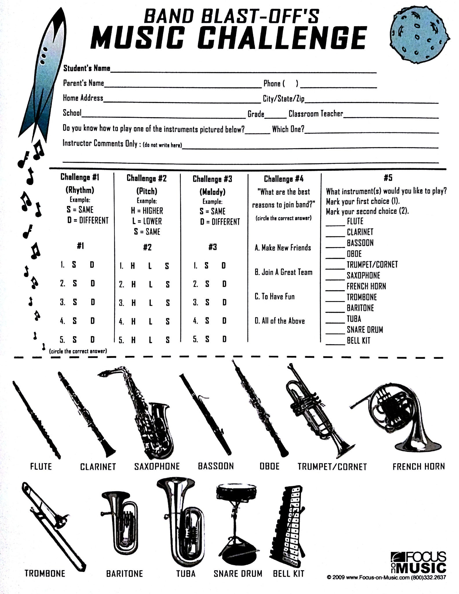 worksheet Beginning Band Worksheets band blastoff focus on music blastoff