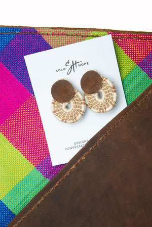 Earrings | Leather Accent