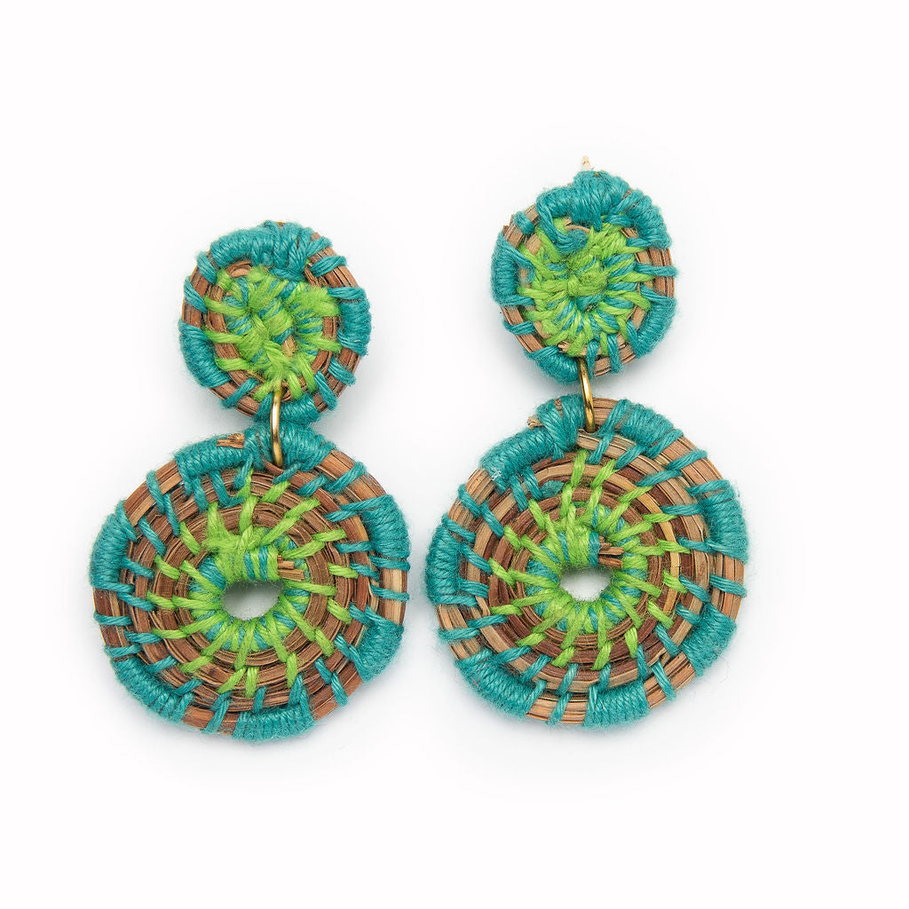 Medallion Earrings | Turquoise
