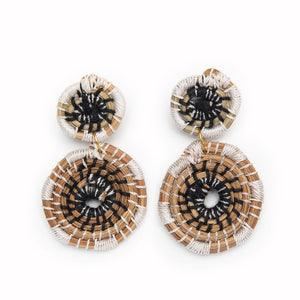 Medallion Earrings | B + W