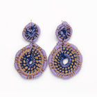 Medallion Earrings | Lavender