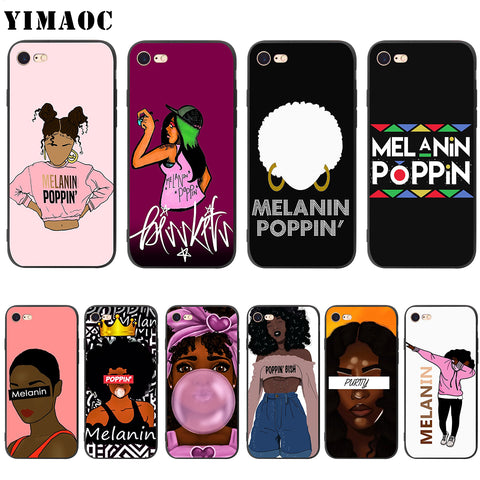 Melanin Poppin Silicone iPhone Case