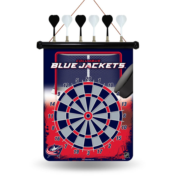 Blue Jackets Magnetic Dart Board
