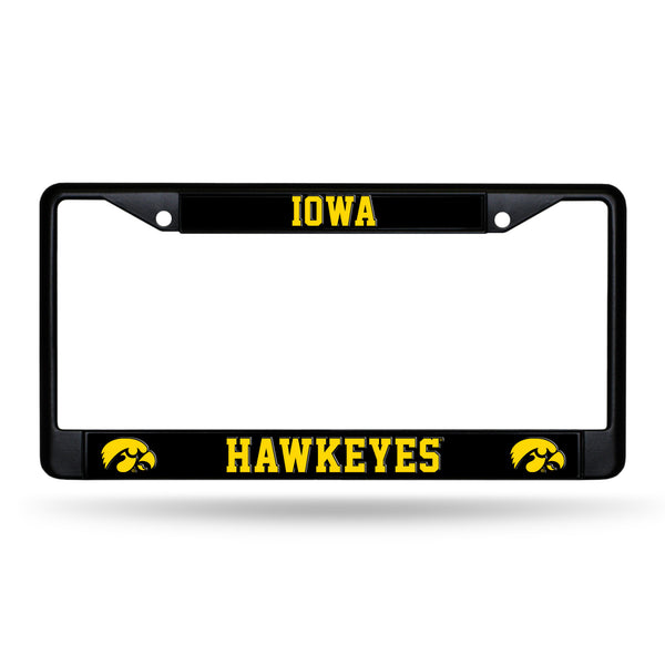 Iowa Black Chrome License Plate Frame
