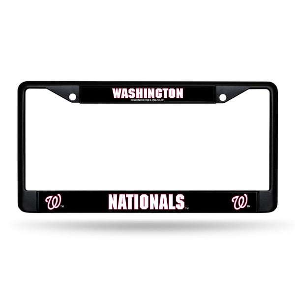 Nationals Black Chrome License Plate Frame