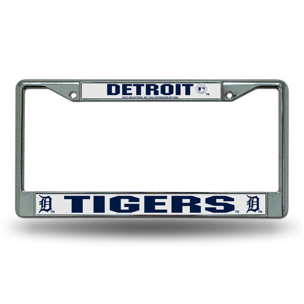 Tigers Chrome License Plate Frame