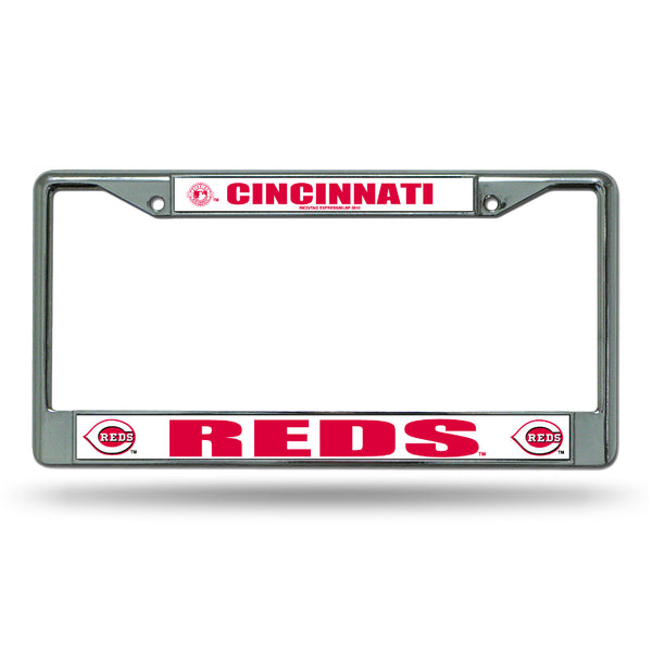 Reds Chrome License Plate Frame
