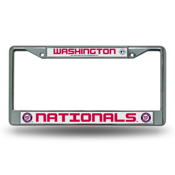 Nationals Chrome License Plate Frame