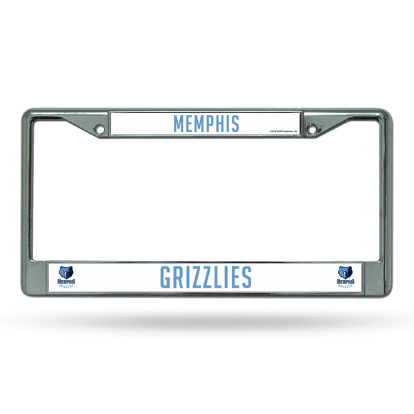 Grizzlies Chrome License Plate Frame