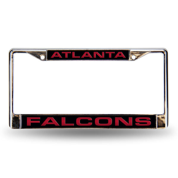 Falcons Chrome License Plate Frame