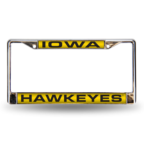 Iowa Chrome License Plate Frame