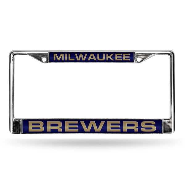 Brewers Chrome License Plate Frame