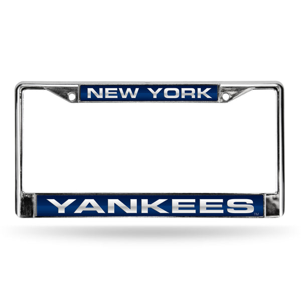 Yankees Chrome License Plate Frame