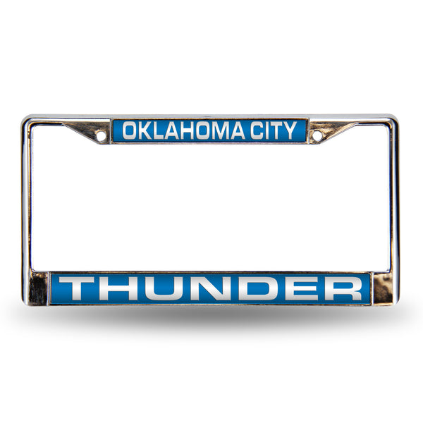 Thunder Chrome License Plate Frame