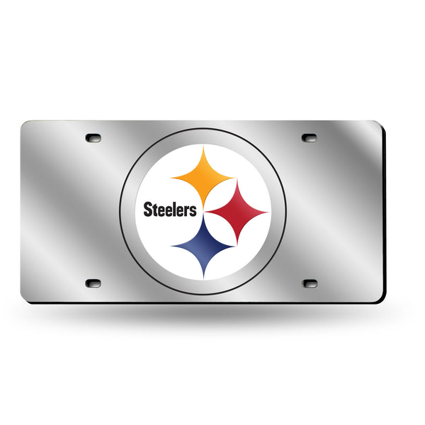 Steelers Silver Laser Cut Tag