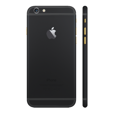 BLACK MATTE for iPhone 6 PLUS - HautePhones - 1