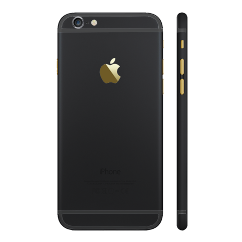 BLACK MATTE for iPhone 6S - HautePhones - 1
