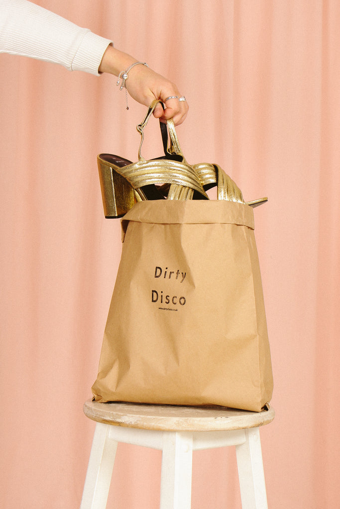 dirty disco kraft mail bag as storage