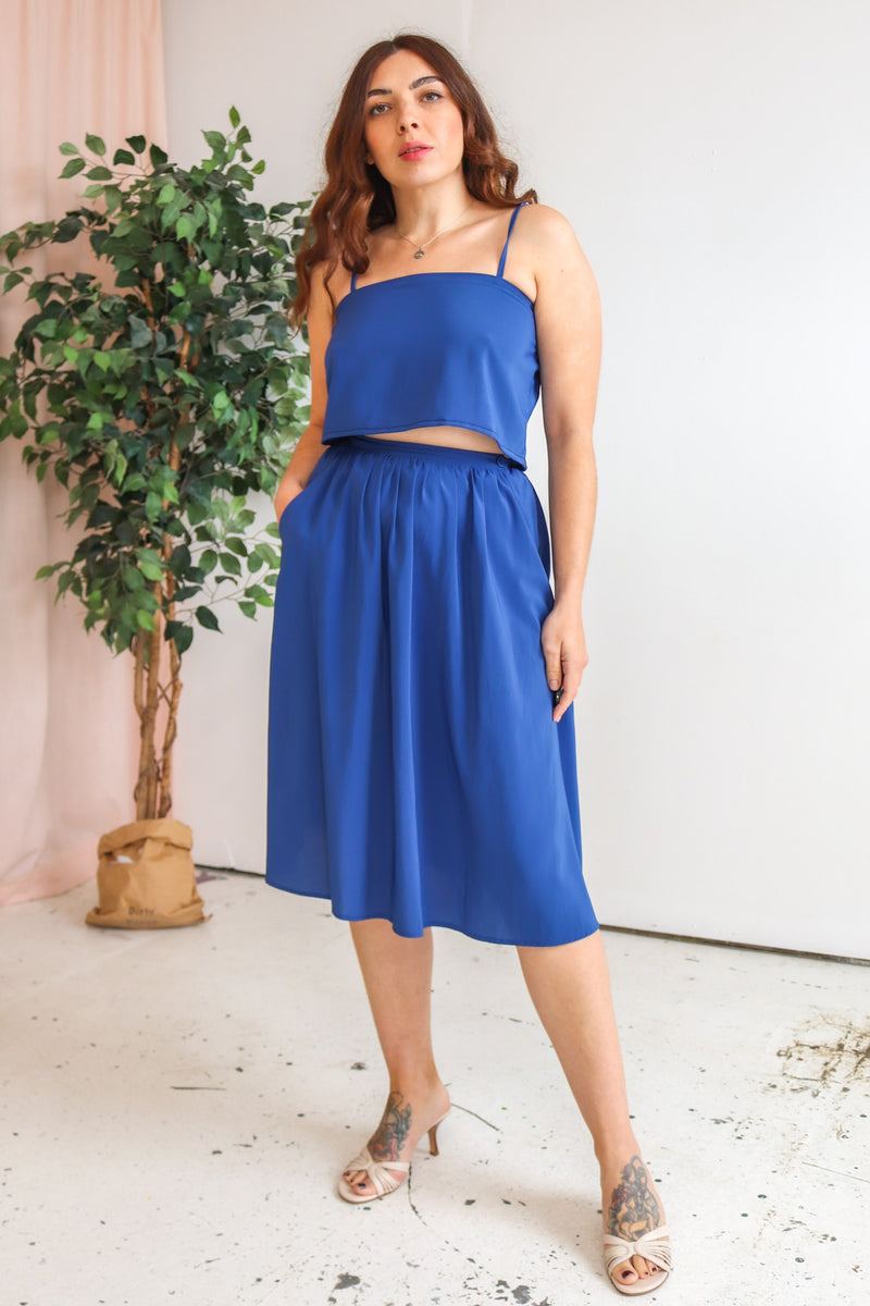 VintageTwo Piece in Blue - Dirty Disco