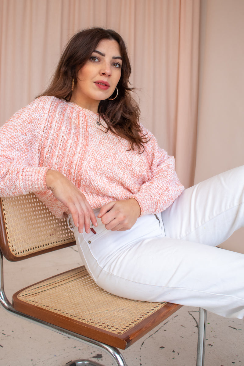 VintageCrop Jumper in Bubblegum - S - Dirty Disco