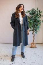 VintageWool Coat in Charcoal - M - Dirty Disco