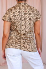 VintageBlouse in Leopard Print - Dirty Disco