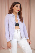 VintageCorduroy Shirt in Lilac - Dirty Disco