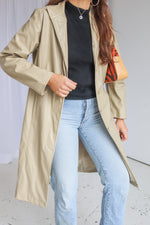 VintageFaux Leather Coat in Cream - Dirty Disco