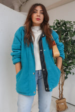 VintageReversible Jacket in Blue Fleece - Dirty Disco