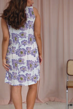 VintageShift Dress in Lilac Floral Print - Dirty Disco