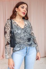 VintageWrap Blouse in Paisley Print - Dirty Disco