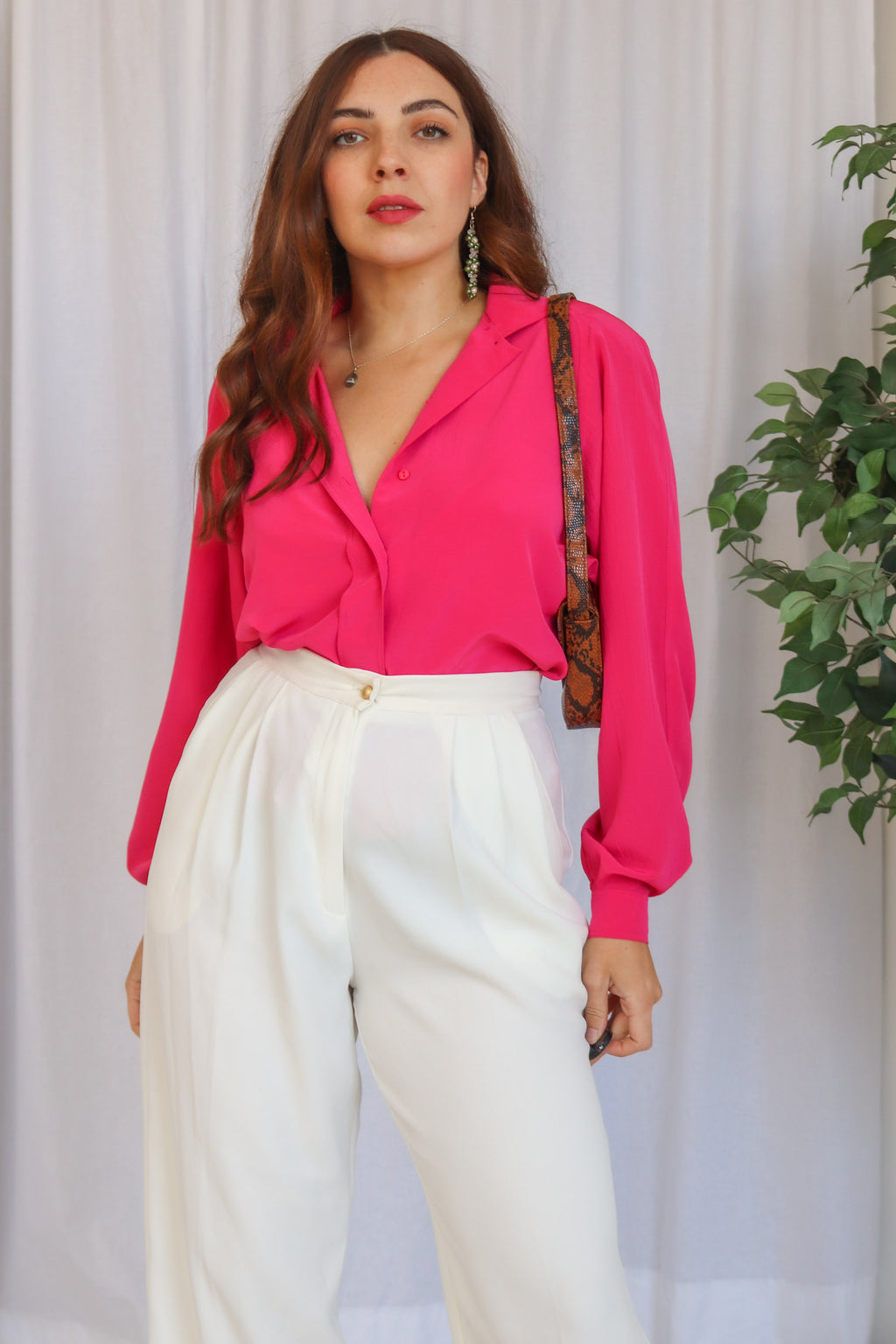 VintageBlouse in Fuchsia - Dirty Disco